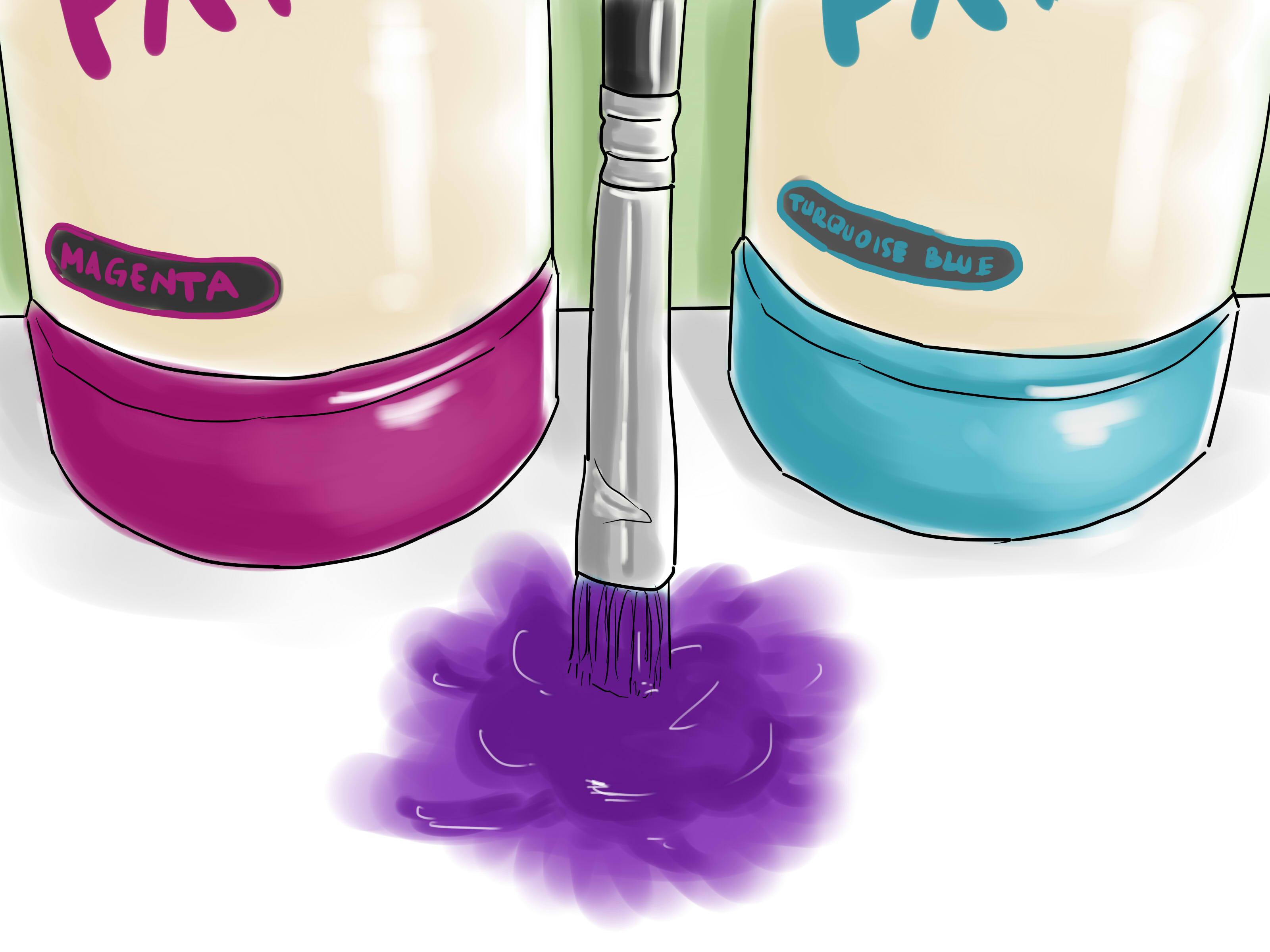Delicato Colore Viola Pallido come rendere il beige dalla vernice grigia. ottenere il
